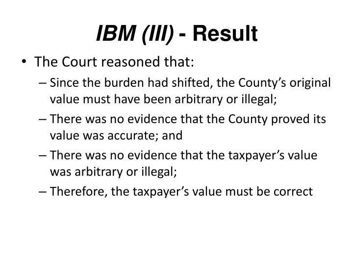 IBM (III)