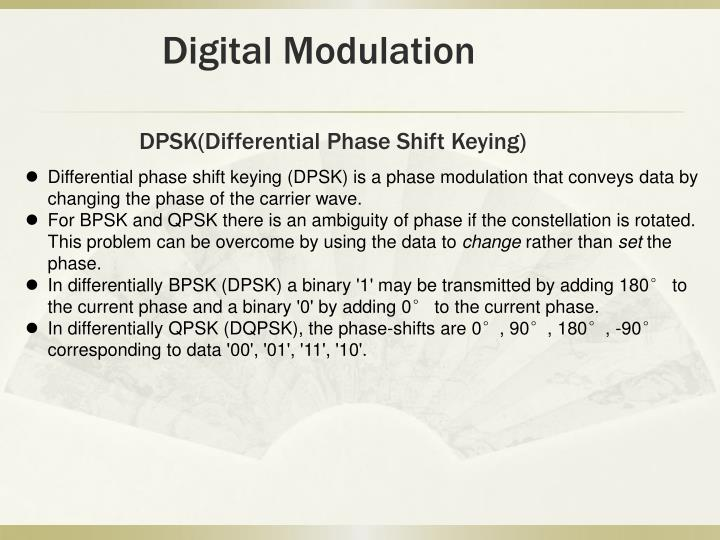 DPSK(Differential Phase Shift Keying)
