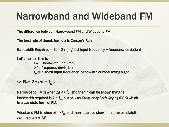 Narrowband and Wideband FM