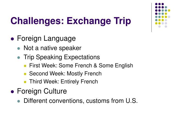 Challenges: Exchange Trip
