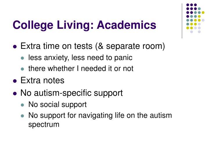 College Living: Academics