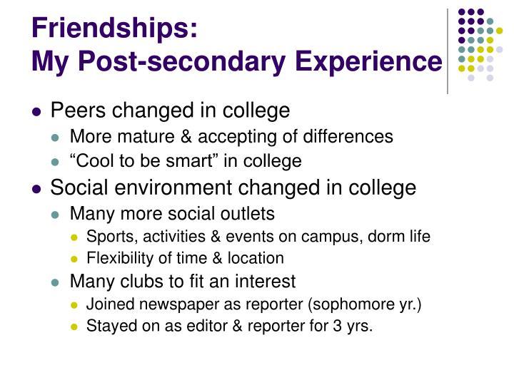 Friendships: