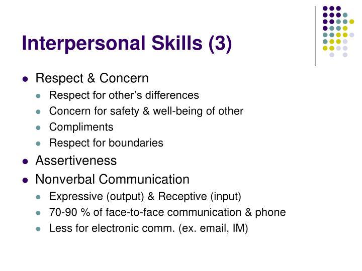 Interpersonal Skills (3)