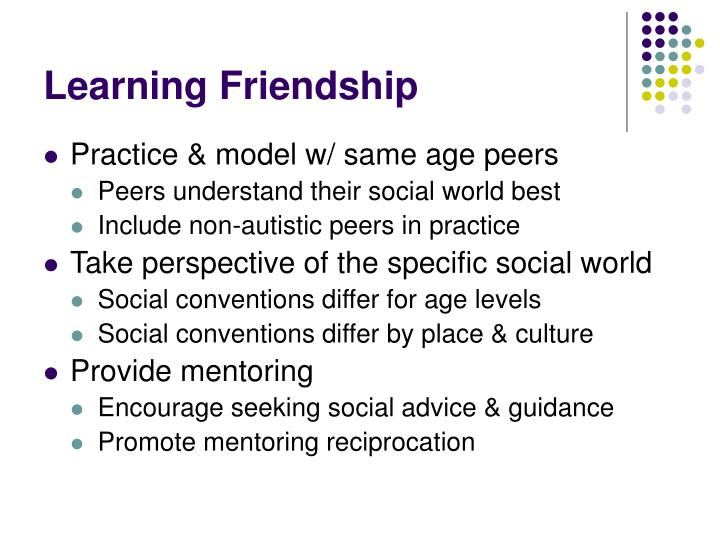 Learning Friendship