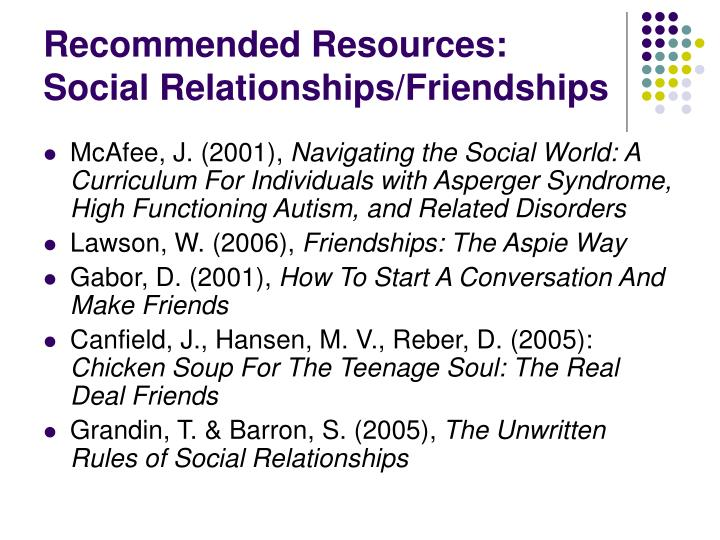 Recommended Resources: