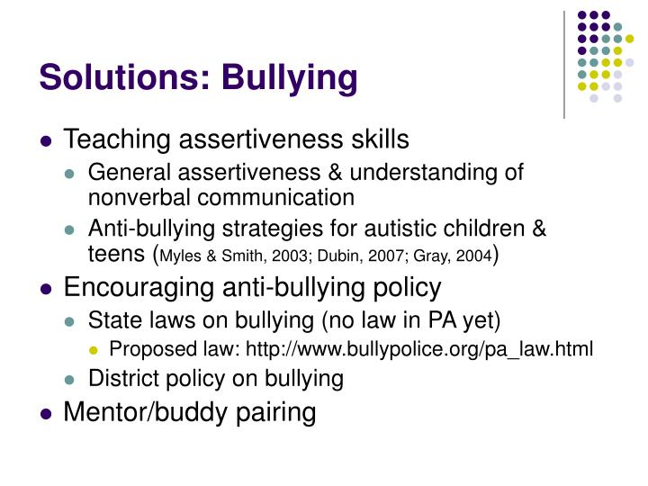 Solutions: Bullying