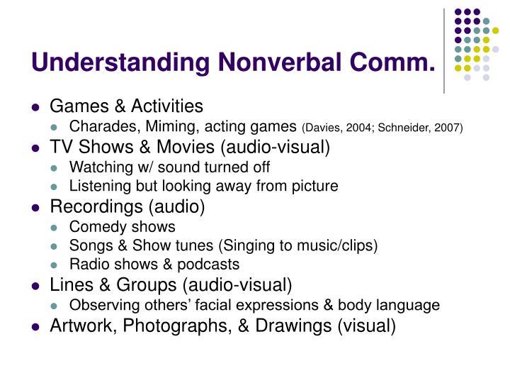 Understanding Nonverbal Comm.