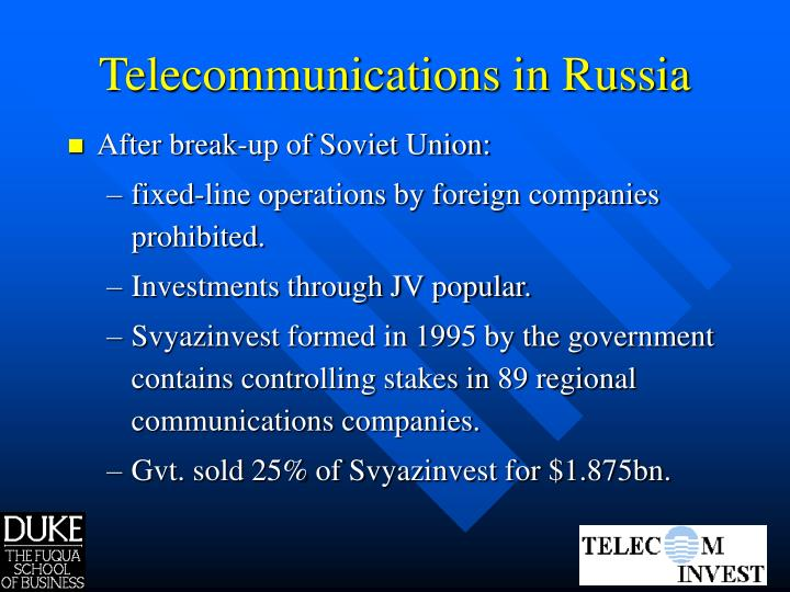 Telecommunications in Russia