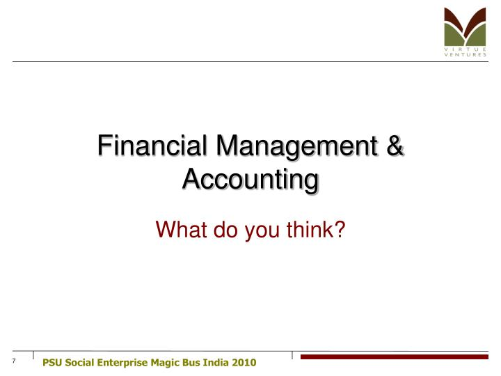Financial Management & Accounting