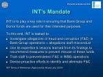 int s mandate