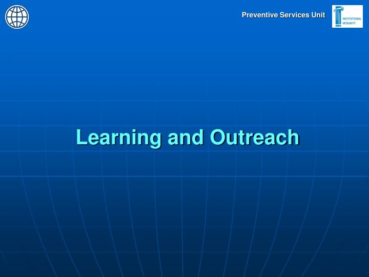 Learning and Outreach
