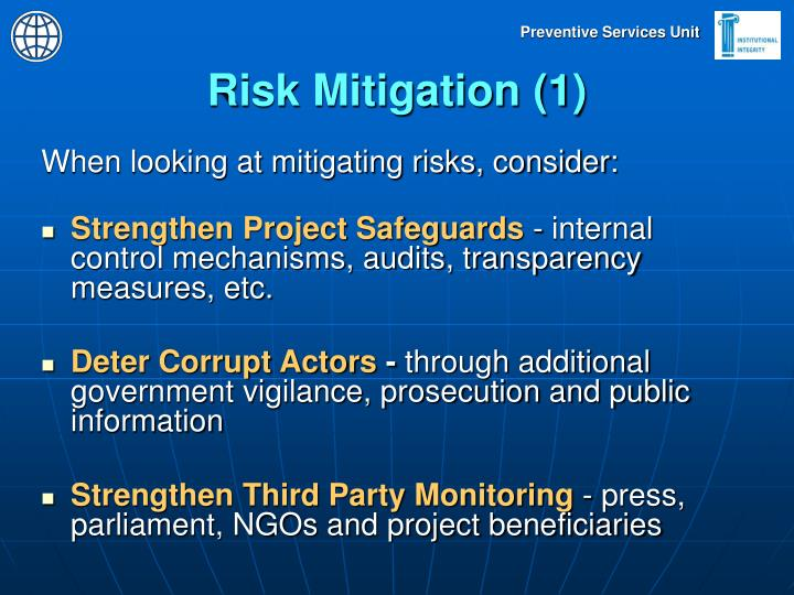 Risk Mitigation (1)
