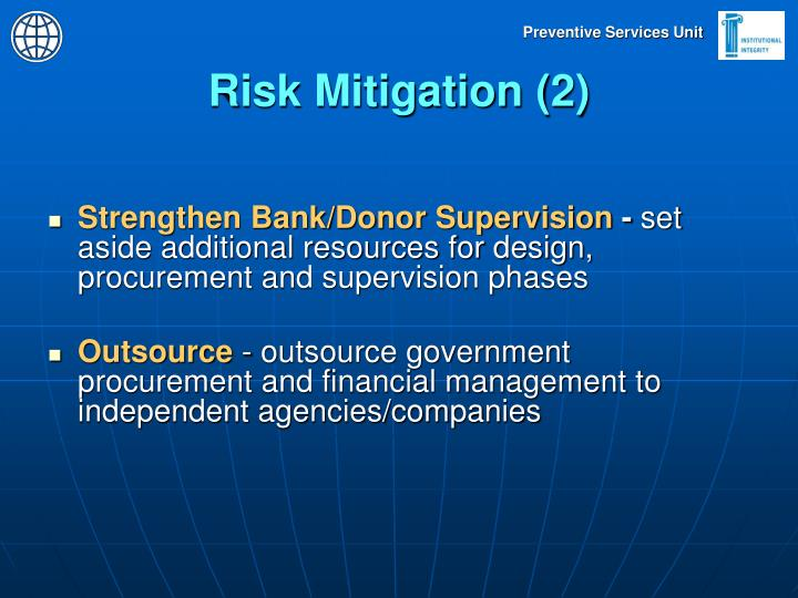 Risk Mitigation (2)