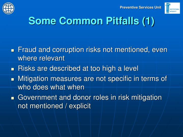 Some Common Pitfalls (1)