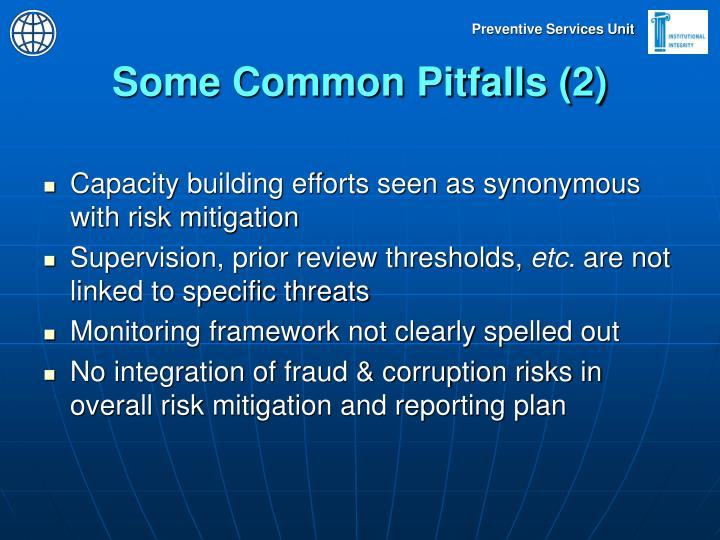Some Common Pitfalls (2)