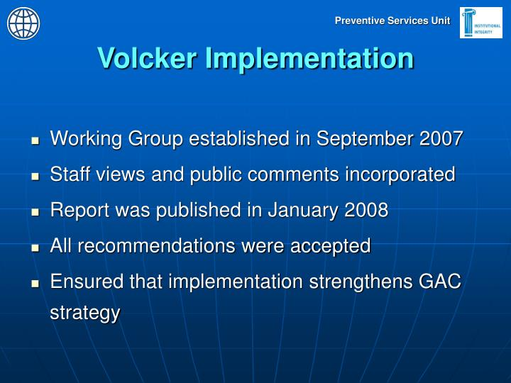 Volcker Implementation