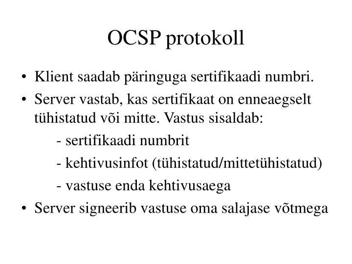 OCSP protokoll