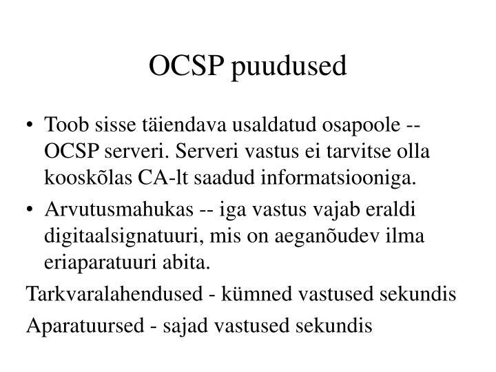 OCSP puudused