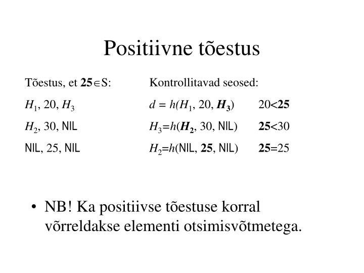 Positiivne tõestus