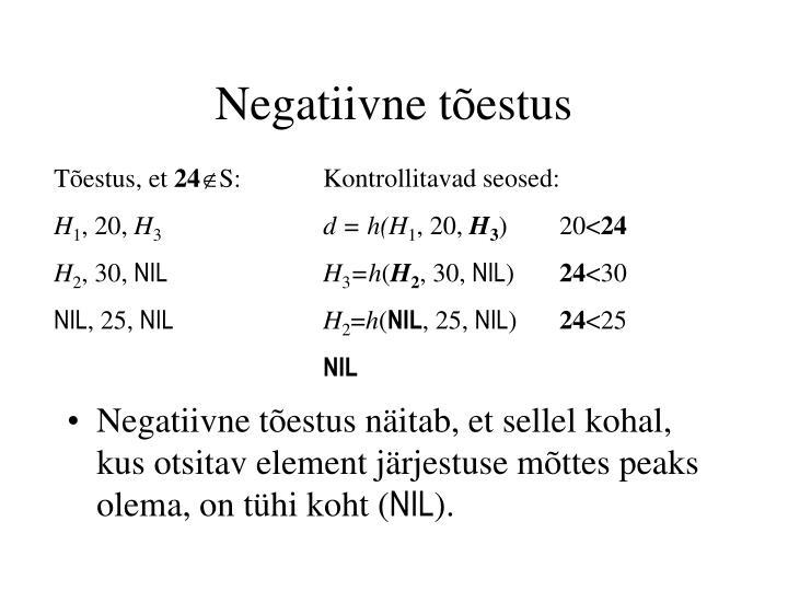 Negatiivne tõestus