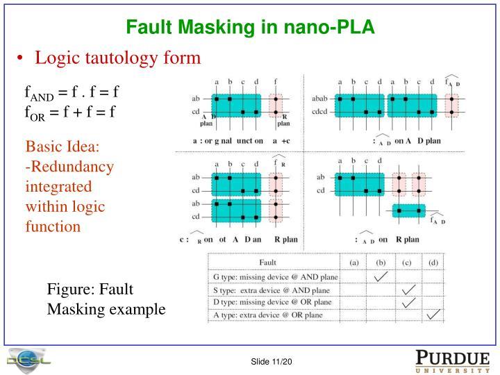 Fault Masking in nano-PLA