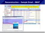 reconstruction sample email imap