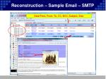 reconstruction sample email smtp