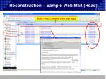 reconstruction sample web mail read