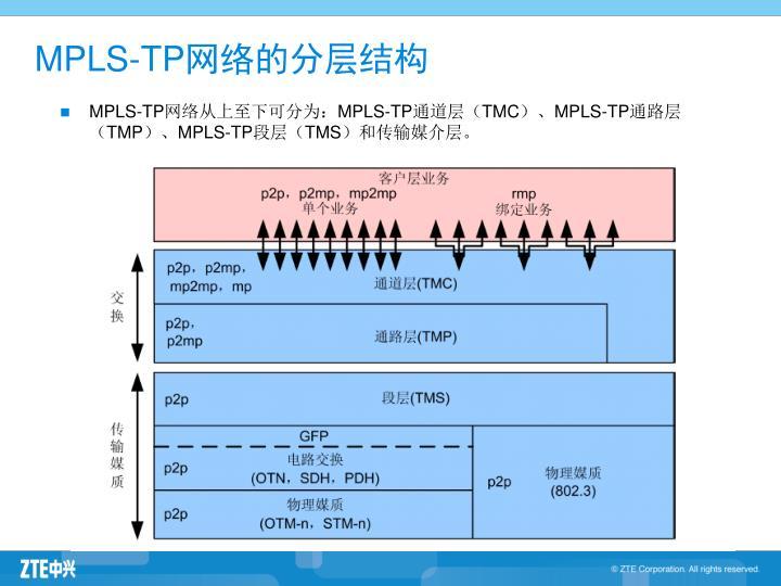 MPLS-TP网络的分层结构