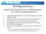 fcs special cases