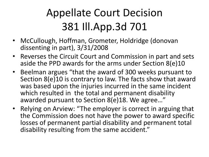 Appellate Court Decision