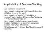 applicability of beelman trucking