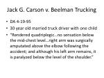 jack g carson v beelman trucking