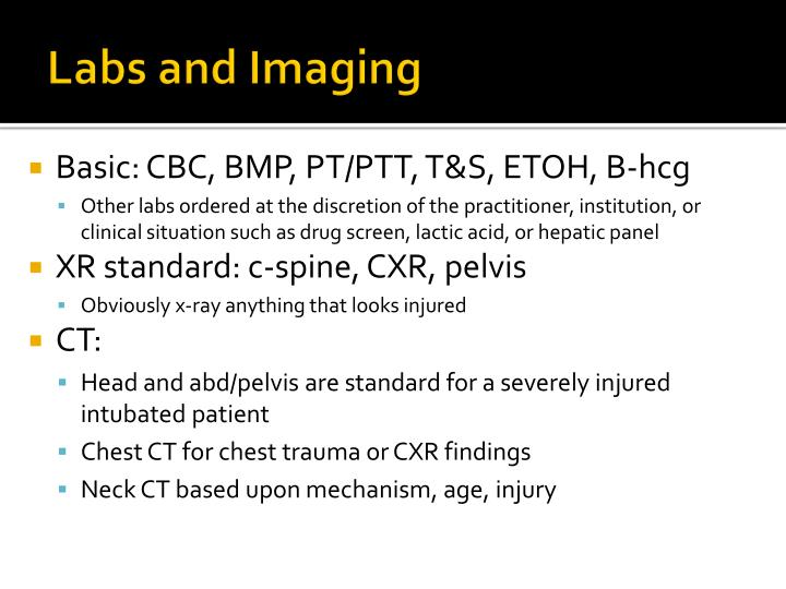 Labs and Imaging