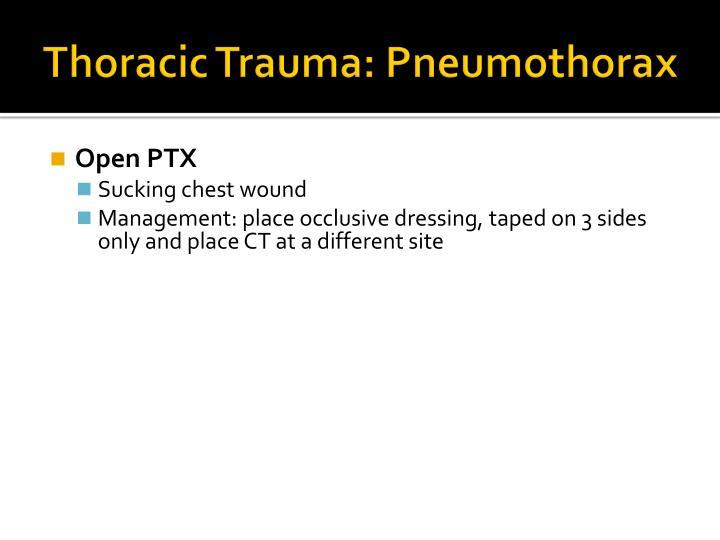 Thoracic Trauma: