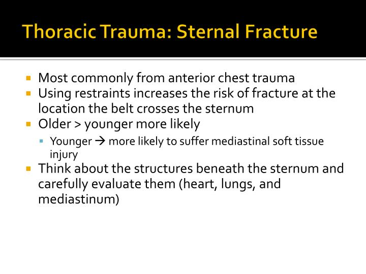 Thoracic Trauma: Sternal Fracture