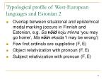 typological profile of west european languages and estonia n 2