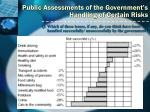 public assessments of the government s handling of certain risks