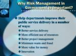 why risk management in government is important3