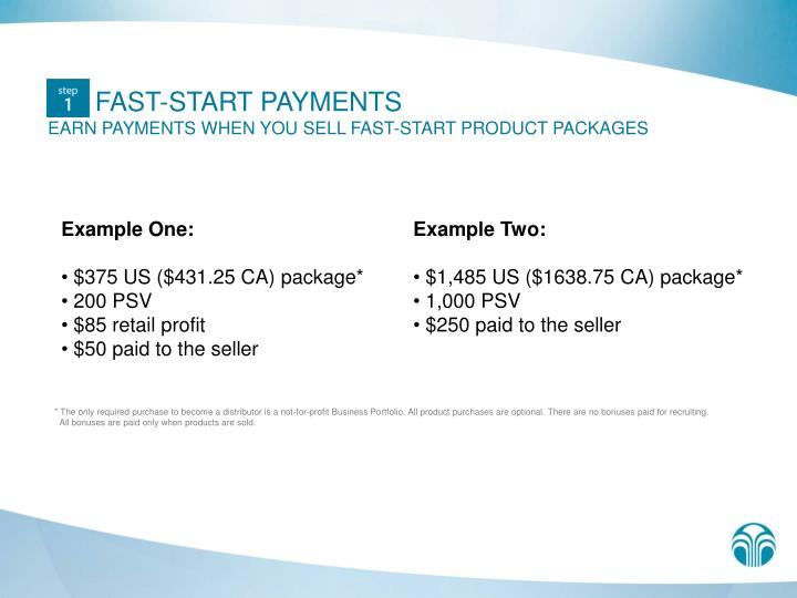 FAST-START PAYMENTS