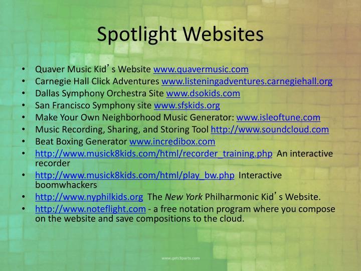 Spotlight Websites