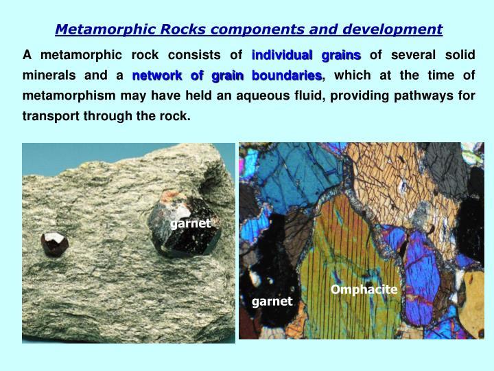 Metamorphic Rocks components and development