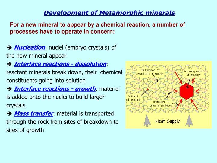 Development of Metamorphic minerals