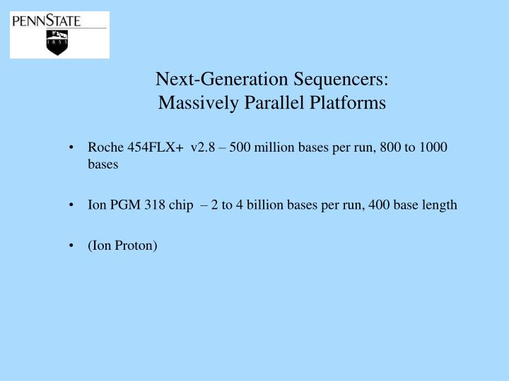 Next-Generation Sequencers: