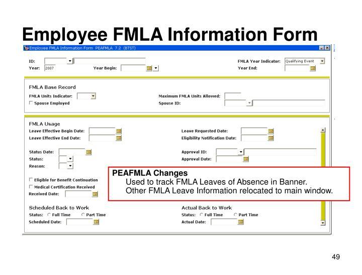 Employee FMLA Information Form