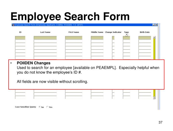 Employee Search Form