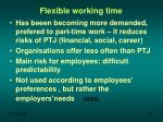 flexible working time