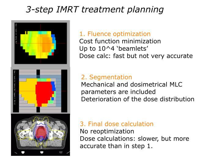 3-step IMRT treatment planning