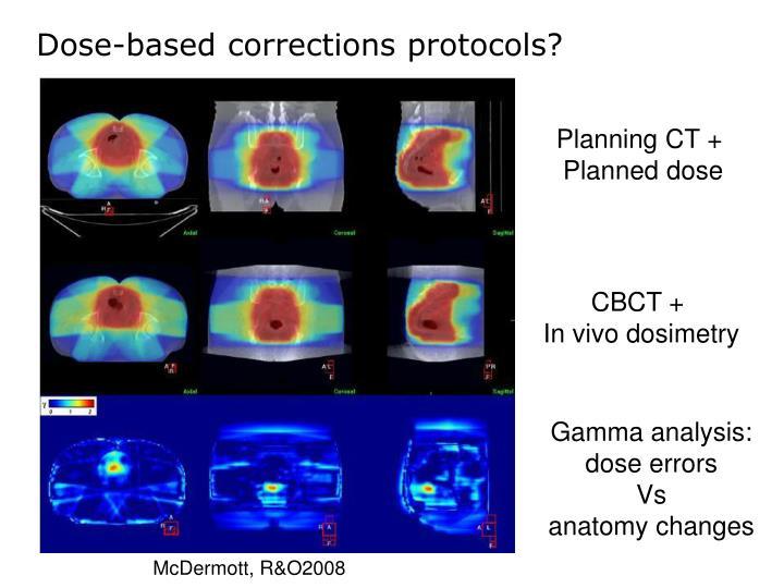 Dose-based corrections protocols?