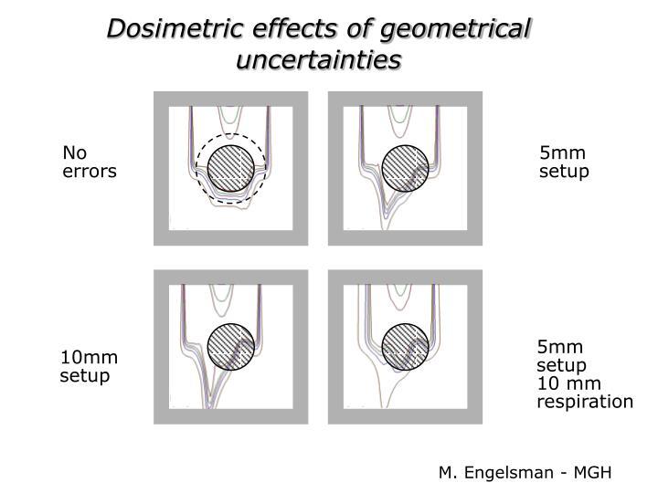 Dosimetric effects of geometrical uncertainties